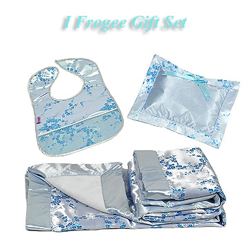 Silver-Sky Blue Cherry Blossom Baby Gift Set