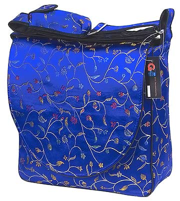 Diamond blue floral diaper bag