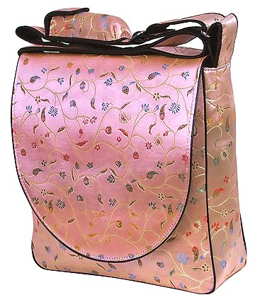 Light pink floral diaper bags