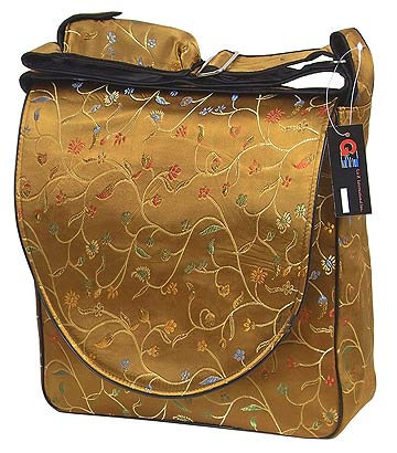 antique gold floral diaper bags