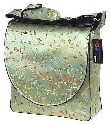 Light green floral diaper bag