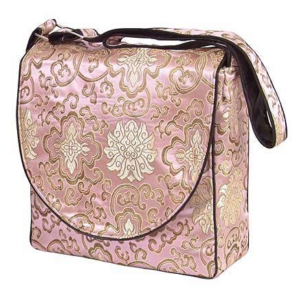 light pink diaper bag