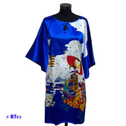 Blue caftan with Geisha image