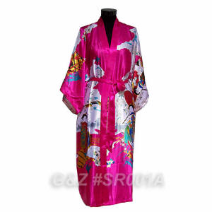 Hot Pink Robes With Japanese Geisha