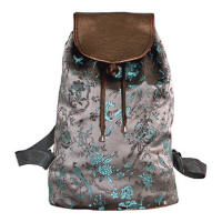 Gray Birds Brocade Backpacks