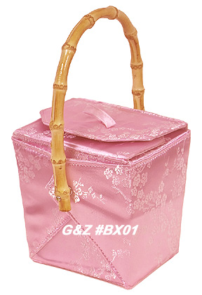 Pink-Silver Cherry Blossom Take-Out-Box Handbag