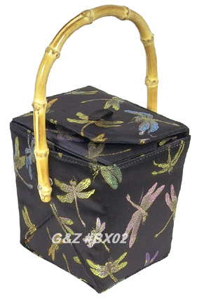 Black Dragonfly Take-Out-Box Handbag