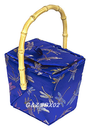 Blue Dragonfly Take-Out-Box Handbag