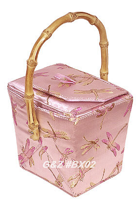 Pink Dragonfly Take-Out-Box Handbag