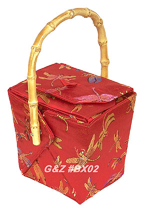 Red Dragonfly Take-Out-Box Handbag