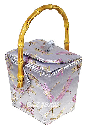 Silver Dragonfly Take-Out-Box Handbag