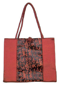 Maroon Chinese Calligraphy Totebag