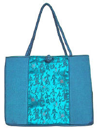 Blue Chinese Calligraphy Totebag