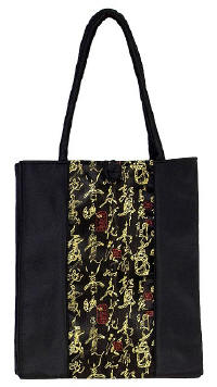 Black Chinese Calligraphy Totebag