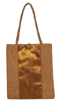 Brown Chinese Calligraphy Totebag