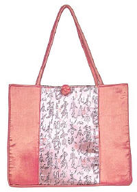 Pink Chinese Calligraphy Totebag