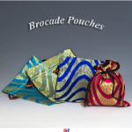 Wave Pattern Brocade Pouches