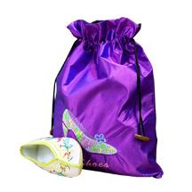 Satin shoe pouches