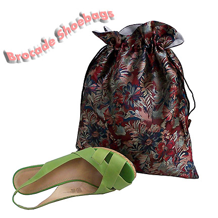 brocade floral shoe pouches
