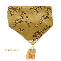 Gold-Red Cherry Blossom Brocade Table Runners