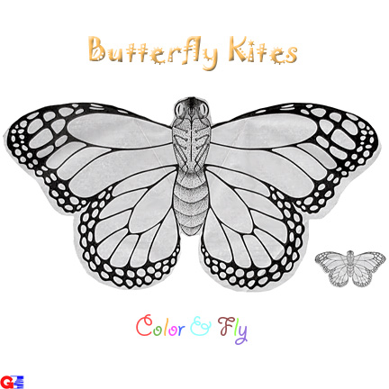 Color & Fly - Butterfly Kite