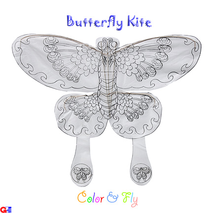 Flat butterfly kite for students