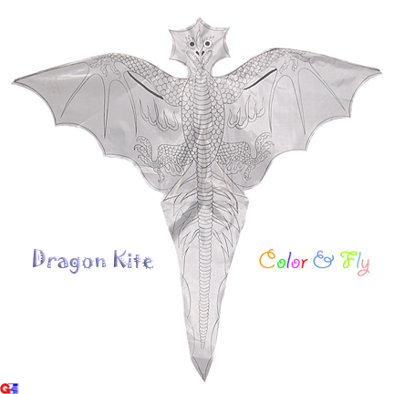 Flat Western Dragon Kite - Color & Fly