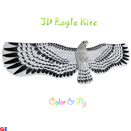 3D Japanese Eagle Kite(uncolored)