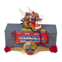 Chinese 3D dragon kite - purple