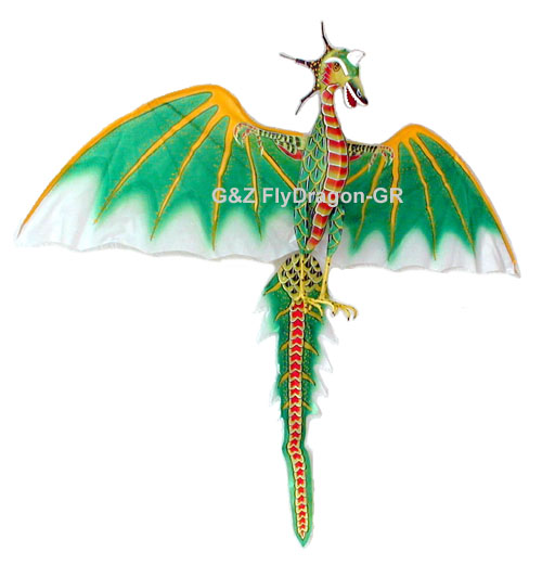 Green Flying Dragon Kite