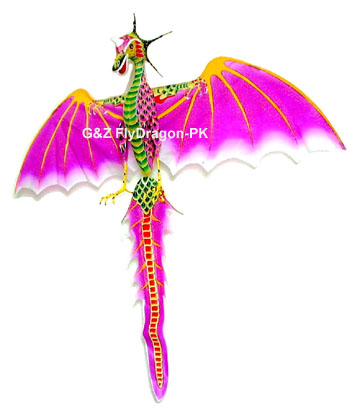 Pink Flying Dragon Kite