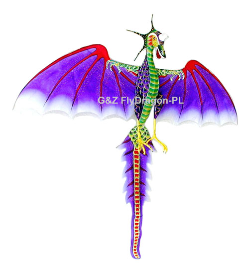 Purple Flying Dragon Kite