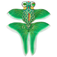 3D gold fish kite - green