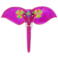 Hot pink elephant kite