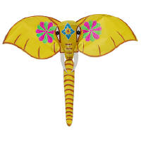 Yellow elephant kite