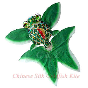 Green silk gold fish kites