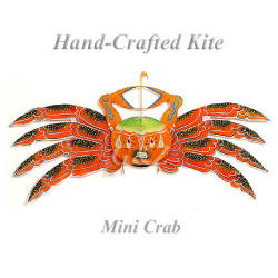 Mini orange crab kite